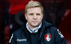 "AFC Bournemouth v Fulham - Sky Bet Football League Championship...Football - AFC Bournemouth v Fulham - Sky Bet Football League Championship - Goldsands Stadium, Dean Court - 26/12/14 Bournemouth manager Eddie Howe Mandatory Credit: Action Images / Jed Leicester Livepic EDITORIAL USE ONLY. No use with unauthorized audio, video, data, fixture lists, club/league logos or ""live"" services. Online in-match use limited to 45 images, no video emulation. No use in betting, games or single club/league/player publications. Please contact your account representative for further details."